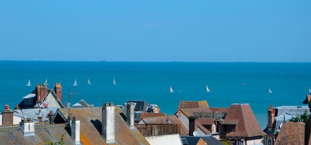 Vue Villers-sur-Mer près de Deauville